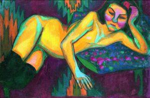 1.Desnudo amarillo Sonia Delaunay (1908)
