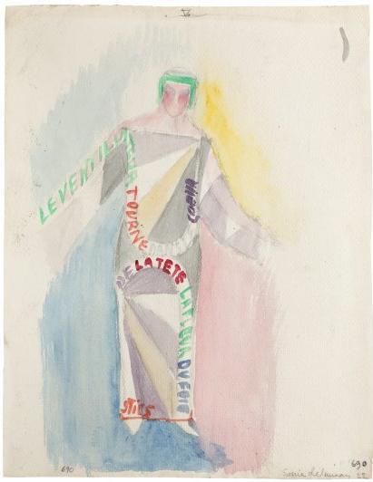 4.Vestidos-poema, texto de Tzara. (1922)