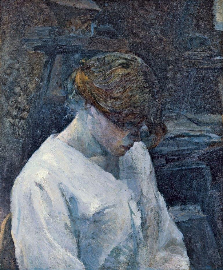 La pelirroja con blusa blanca Toulouse-Lautrec
